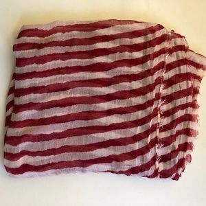 Accessories - Red & White Striped Scarf